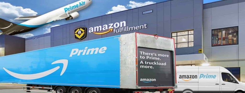 Distribusi dari Perusahaan Amazon