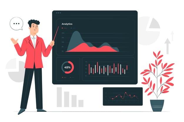 integrasi data ilustrasi merah 4