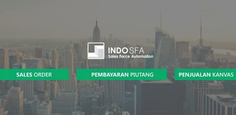 Aplikasi sales force automation Indo SFA