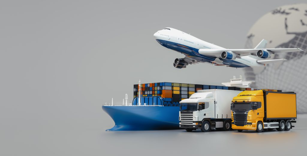 plane trucks are flying towards destination with brightest